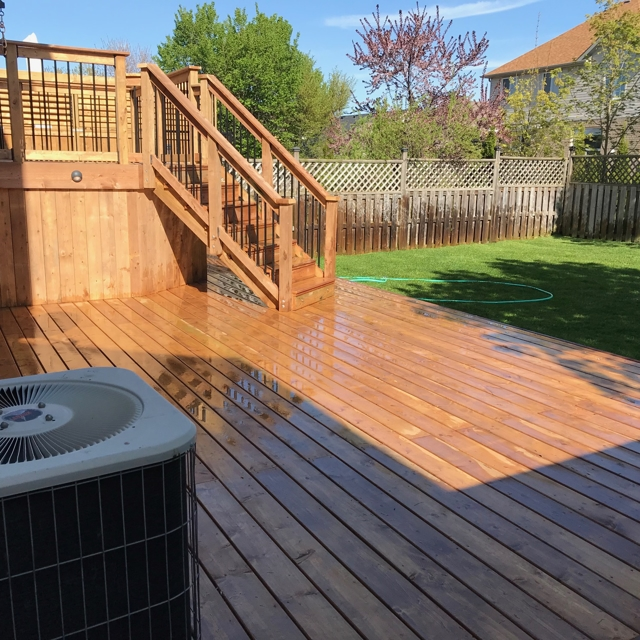 Replacing old boards with a new fresh deck