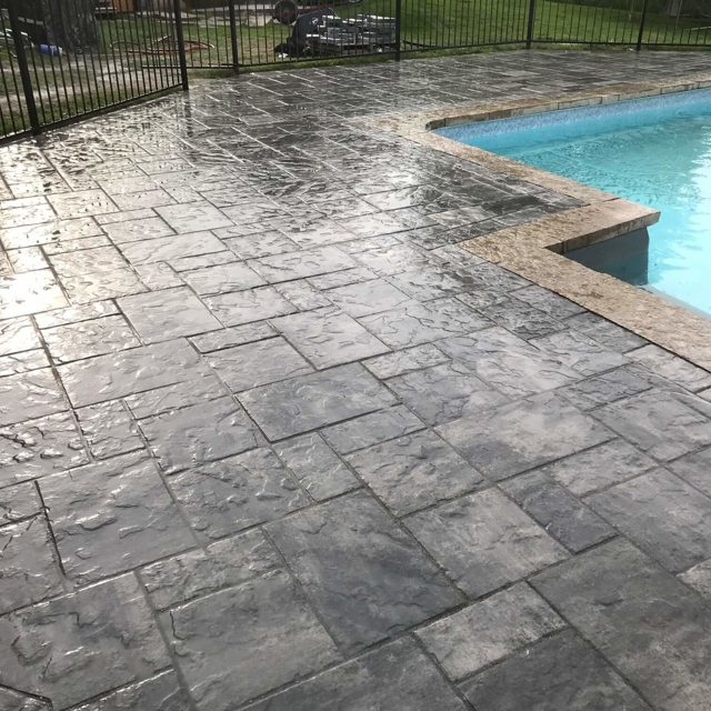 Stone Hardscape around a pool